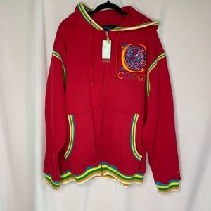 COOGI full zip hoodie with embroidered spell out